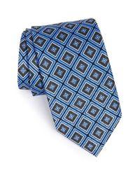 JZ Richards - Blue Medallion Silk Tie for Men - Lyst