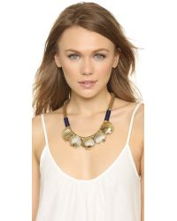 Holst + Lee - Metallic Scallop Necklace - Gold - Lyst