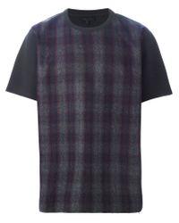 Lanvin - Blue Checked T-shirt for Men - Lyst