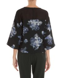 Tibi | Multicolor Floral Top With Mesh Back | Lyst