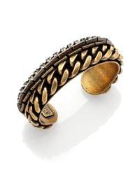 DANNIJO - Metallic Nolan Crystal Chain Cuff Bracelet - Lyst