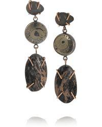 Melissa Joy Manning - Brown 14-karat Rose Gold And Sterling Silver Multi-stone Earrings - Lyst