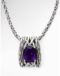 Effy | Metallic Balissima Amethyst Necklace In Sterling Silver | Lyst