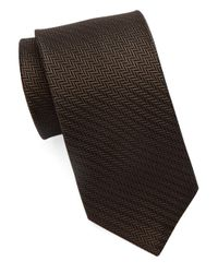 William Rast | Brown Textured Silk Tie for Men | Lyst