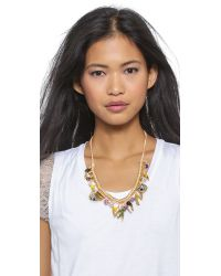 Venessa Arizaga - Metallic Teepee Time Necklace - Citrus - Lyst