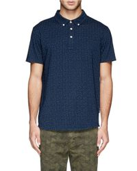 Paul Smith - Blue Paisley Print Jersey Polo Shirt for Men - Lyst