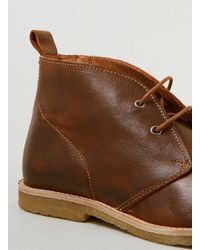 TOPMAN - Brown Union Tan Leather Chukka Boots for Men - Lyst