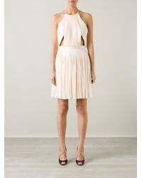 Vionnet - Pink Pleated Halterneck Dress - Lyst