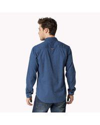Tommy Hilfiger | Blue Cotton Regular Fit Shirt for Men | Lyst