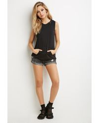 Forever 21 | Black Crisscross-back Sleeveless Hoodie | Lyst