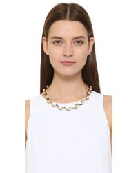 Oscar de la Renta | Metallic Sea Swirl Imitation Pearl Necklace | Lyst