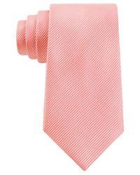 Geoffrey Beene | Orange Bias Stripe Solid Extra Long Tie for Men | Lyst