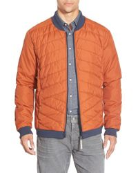 Bench | Orange 'pulse' Quilted Zip Front Jacket for Men | Lyst