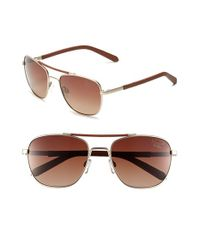 Original Penguin | Metallic 'the Joey' 56mm Polarized Sunglasses for Men | Lyst