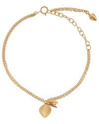 Dinny Hall | Metallic Gold Vermeil Lotus Charm Bracelet | Lyst