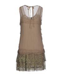 Twin Set - Green Short Dress - Lyst