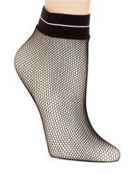 Hue | Black Fishnet Ankle Socks | Lyst