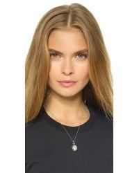 Monica Rich Kosann | Metallic Petite Bridle Locket Necklace - Silver/clear | Lyst