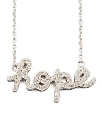 Sydney Evan | White Diamond Hope Necklace | Lyst