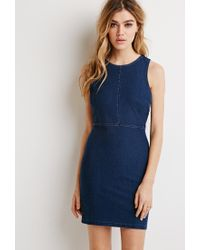Forever 21 | Blue Denim Bodycon Dress | Lyst