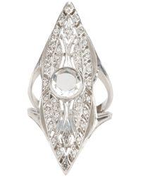 Loree Rodkin | Metallic Art Deco Marquise Ring | Lyst