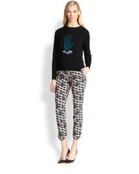 Opening Ceremony - Green Hand-Print Cropped Pants - Lyst