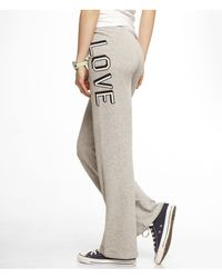 Express - Gray Love French Terry Straight Leg Sweatpant - Lyst