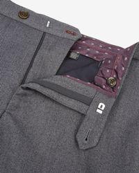 Ted Baker | Gray Herringbone Trousers for Men | Lyst