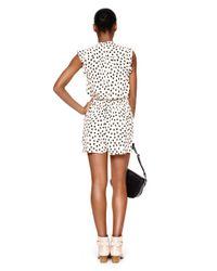 kate spade new york | Multicolor Leopard Dot Crepe Romper | Lyst