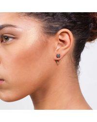 Dutch Basics - Metallic Ruit Porcelain Black Earrings - Lyst