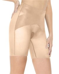 Spanx | Natural Skinny Britches Mid Thigh Shaper | Lyst