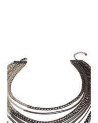 Forever 21 - Metallic Mixed Chain Necklace - Lyst