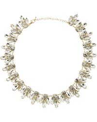 Kenneth Jay Lane | Metallic Crystal Necklace | Lyst