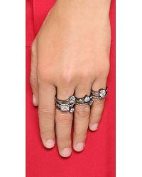 Noir Jewelry | Metallic Cosima Three Finger Ring | Lyst