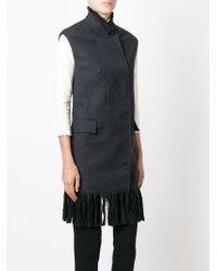 3.1 Phillip Lim - Gray Fringed Wool Waistcoat - Lyst