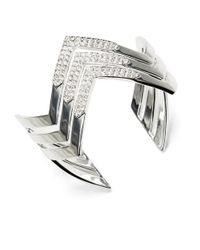 Lauren by Ralph Lauren | Metallic Chevron Cuff Bracelet | Lyst