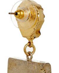Dara Ettinger - Metallic Gold-plated Druzy Earrings - Lyst