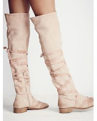 Free People - Pink Fp Collection Womens West End Lace Up Boot - Lyst