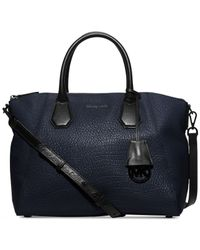 Michael Kors | Blue Michael Campbell Large Satchel | Lyst