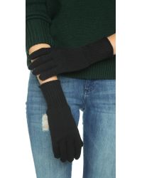 Hat Attack - Cashmere Gloves - Black - Lyst