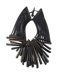 Monies | Black Wooden Shard Necklace | Lyst