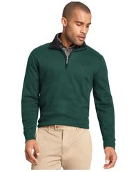 Van Heusen | Natural Big And Tall Heathered Quarter-zip Pullover Sweater | Lyst