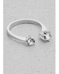 & Other Stories - Metallic Rhinestone Ring - Lyst