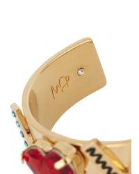 MFP MariaFrancescaPepe | Metallic Loved Swarovski Crystal Cuff | Lyst