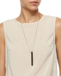 Brunello Cucinelli | Metallic Two-tone Tag Beaded Necklace | Lyst
