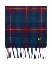 Lyle & Scott | Blue Classic Tartan Wool Scarf for Men | Lyst