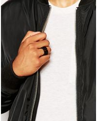 ASOS - Geo Cage Ring In Black for Men - Lyst