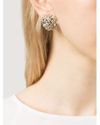 Alexis Bittar | Metallic Crystal Cluster Clip-on Earrings | Lyst