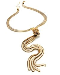 INC International Concepts - Metallic Gold-tone Knotted Necklace - Lyst