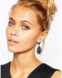 Girls On Film | Black Embellished Burst Drop Earrings | Lyst